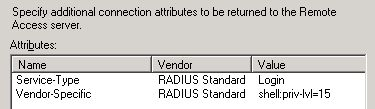 RADIUS - Advanced Options