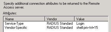 RADIUS - Advanced Options