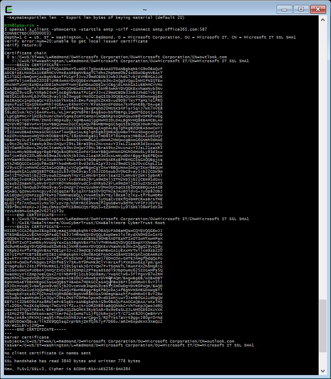 Export Starttls Certificate From Smtp Server Booches